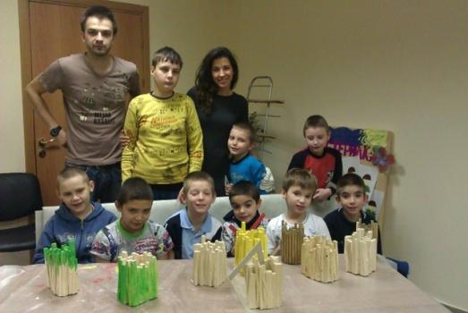 """Мастер-класс по дизайну в Детском доме """"Благо"""" в Одинцово"""