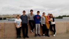 Ребята из детского дома села Белогорное Вольского района Саратовской области в Санкт-Петербурге