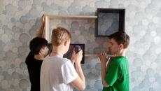 Строительная мастерская в школе-интернате с. Широкий Буерак Вльского района