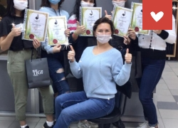 Окончание обучения воспитанниц СРЦ «Возвращение» г. Саратов в индустрии красоты